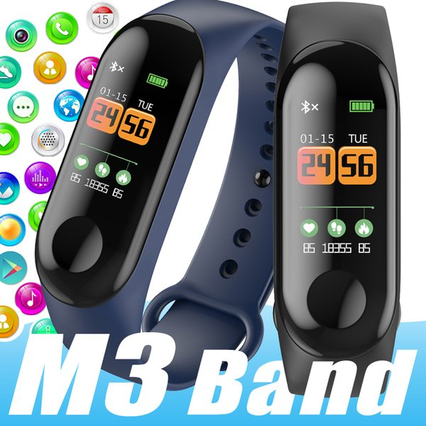 M3 M2 MI3 Waterproof Health Activity Fitness Tracker Color Screen Smart Watch Heart Rate Blood Pressure Calories Pedometer pk fitbit XIAOMI
