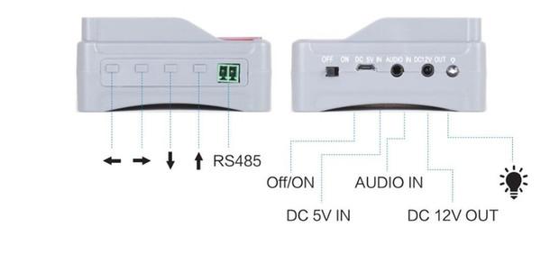 4,3 zoll 4 in 1 AHD CVI TVI CVBS analoge kameras CCTV tester monitor prüfung 1080 P 960 P 720 P PTZ audio 12 V