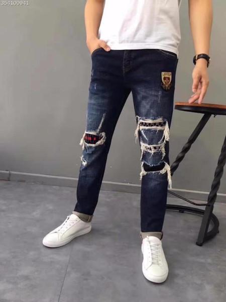 WE1021BA Fashion Men's Jeans 2018 Runway Luxury Brand European Design party style Men's Clothing