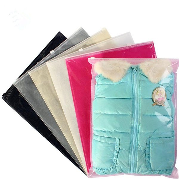 Transparent Storage Bag Travel Cosmetic Pouch Waterproof Zip lock Shoes Bag Clothes Organizer 30*40CM fast shipping F20173299