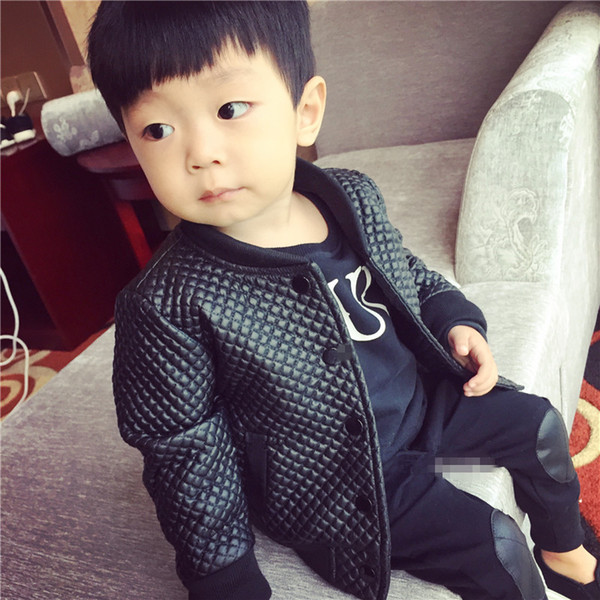 top popular SQBCMW 2018 kids Spring autumn clothes Children Jacket for Boys Outerwear Children's PU Leather Coat black fashion 2021
