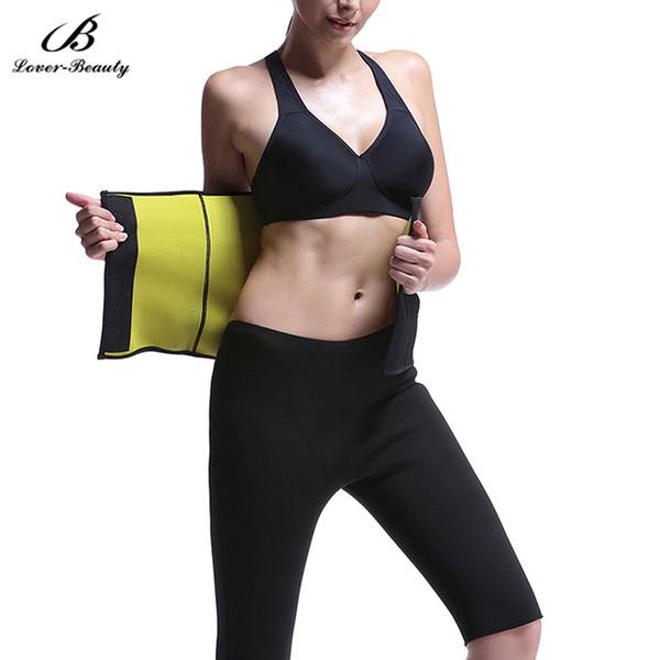 wholesale Lover Beauty Hot Neoprene Super Stretch Slimming Belt For Weight Loss Women Stomach Waist Trainer Body Burn Fat Sweating Belts-A