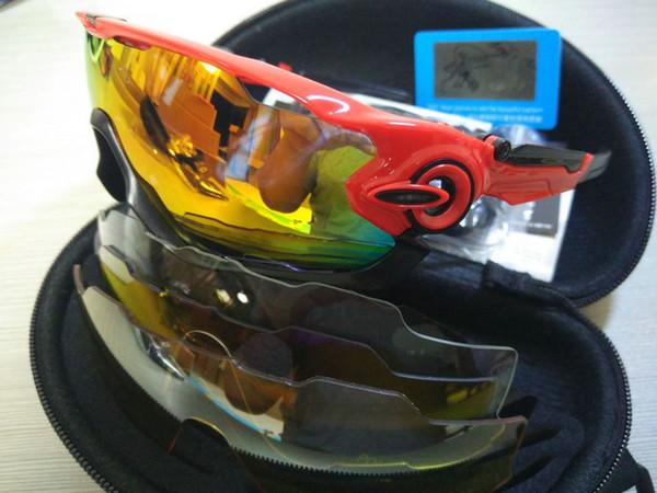 5d5faee615 16 Colors Fashion Sun Glasses With 4 Lens Brand Polarized Jawbreaker  Sunglasses For Men Women Sport