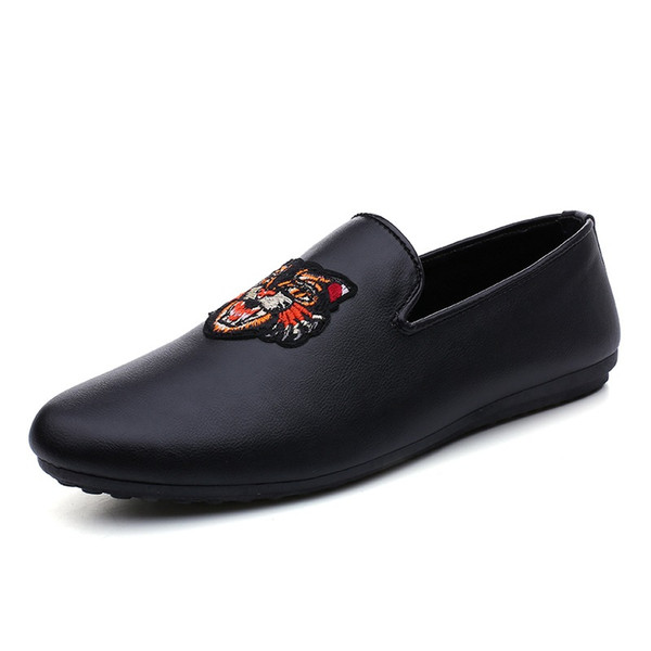Big Size 2018 Summer Genuine Leather Shoes Men Casual  Mens Slip-On Loafers Breathable Driving Black Shoes