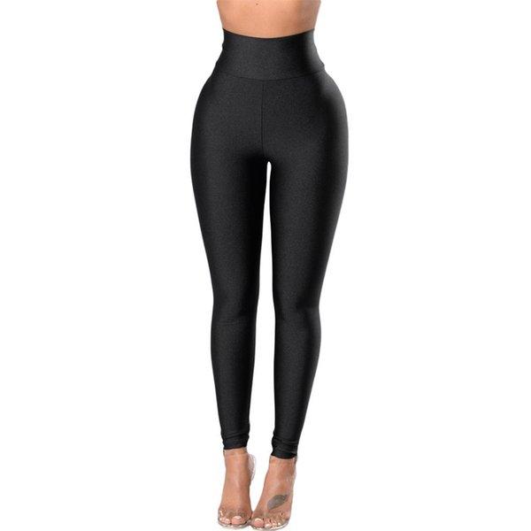 Pantaloni sportivi aderenti elasticizzati Leggings elasticizzati neri