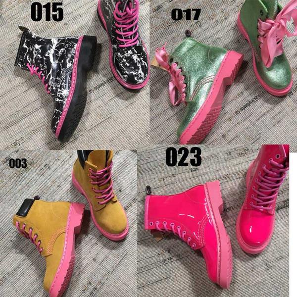 {Orijinal Logo} Askeri Savaş Çalışma Taktik Bayan Martin Ayak Bileği Çizme Kış Lüks Tasarımcı Yüksek Kadın Çizmeler Ayakkabı boyutu: 34-41 30 renkler
