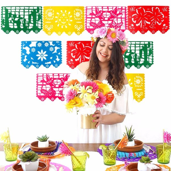 Eco Friendly bannière du Mexique Garland mariage drapeau Décorations bannière pour Party Themed Papel Picado Halloween Birthday Party