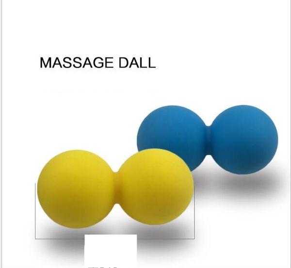 Bolas de masaje de maní para el pie de la cintura Bolas de relajación muscular de la bola doble de lacrosse de Pilates de fitness de Pilate