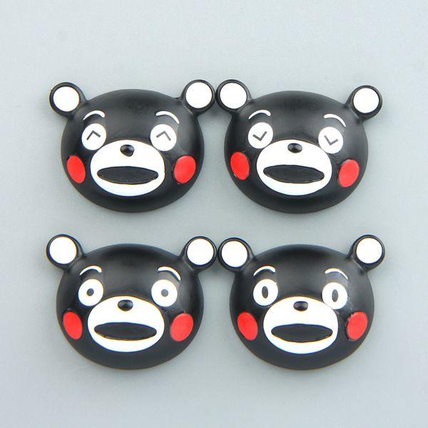 4pcs/lot Cartoon Japanese Kumamon Fridge Magnet Kid Early Education Bear Animal Magnetic Key Hook For Kids Phone Case Resin Figure Sticker