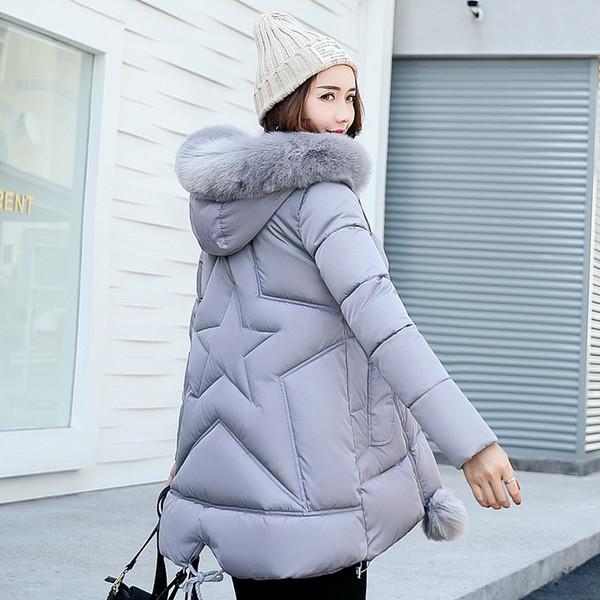 Winnter Jacket Women 2017 ladies coat Female Overcoat Windbreaker Faux Fur Hooded Parkas Cotton Padded Casual Slim Long Coat