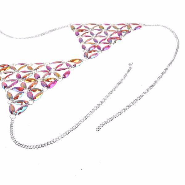 Rhinestone body chain women sexy bralette chain bra bikini jewellery 2018 fashion summer beach body jewelry