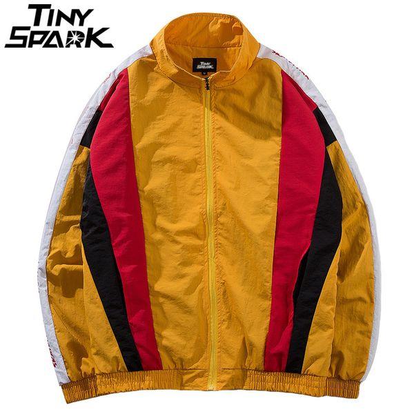 Streetwear Retro Hip Hop Patchwork Jacken Herren Jacke Farbblock Vintage Von Sikaku Mäntel Großhandel Windbreaker 2018 Casual Track Harajuku SzqUGMpV
