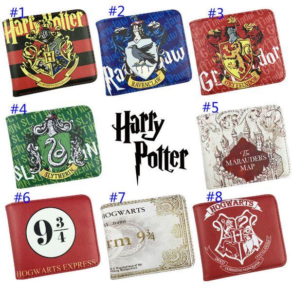 Harry Potter Harley Baud Portafoglio PU Skin Short Fund Due frattura Student Wallet Comic Wallet Periphery
