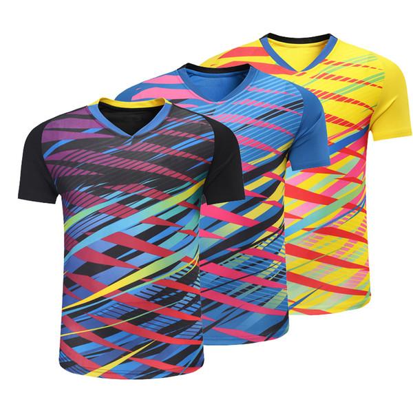 top popular Hot 2018 new tennis shirts, men   women badminton T-shirts, sportswear, short sleeved T-shirts, sportswear, free shipping. 2020