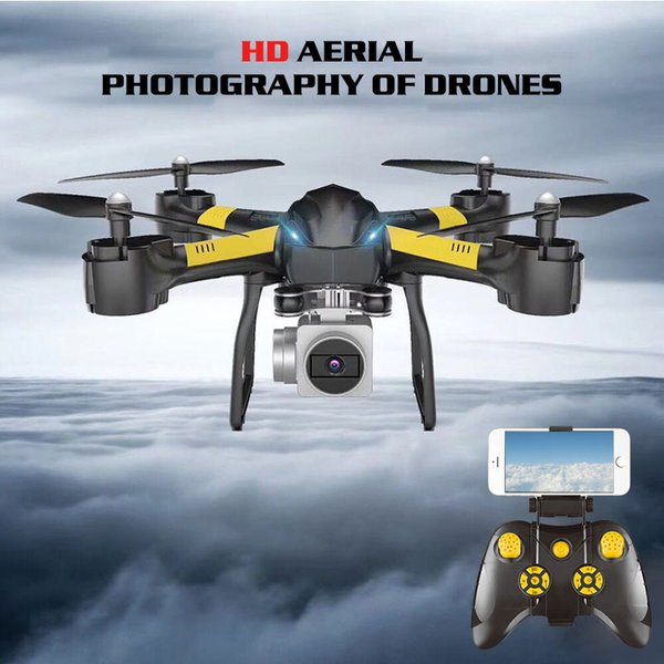 Smart Advanced Drone Wifi FPV 480P/720P/1080P HD Camera Stable Gimbal Fixed Height Voice Operation One-touch Landing Quadcopter