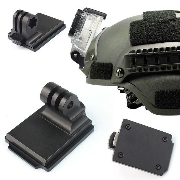 GloryStar per Gopro Sports Camera Helmet Supporto fisso in alluminio per Gopro HD HERO 4 3+ 3 2 1 SJ4000 SJ5000 SJ6000 NVG Mount F06678