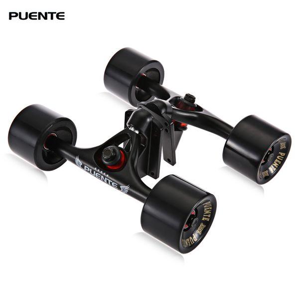 PUENTE 2pcs / Set Skateboard LKW mit Skate Rad Riser ABEC - 9 Lager Hardware Zubehör für Outdoor Sports Skateboarding