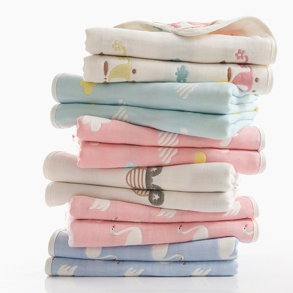 Baby Muslin Blanket Envelope Swaddle For Newborns Pure Cotton Gauze Bath Towel For Infant Soft Hold Wraps 110x110cm