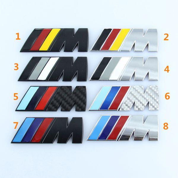 8 cm * 3 cm Bmw M3 M5 M güç spor Metal M logosu rozeti marka arka kuyruk gövde Çamurluk Amblem Sticker Çıkartması