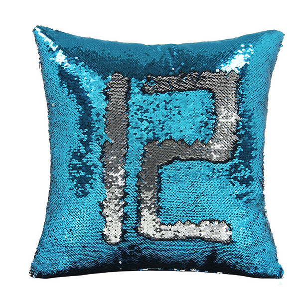 18 Colors Sequins Pillow Cover Mermaid Pillow Case Shiny Double Reversible Home Sofa Magic Paillette DIY Cushion Cover