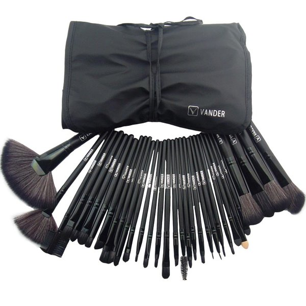 makeup brushes brush kit 32pcs 32 pcs set Professional Makeup Brushes Cosmetic Make up Brush Set Black Leather Bag organizer