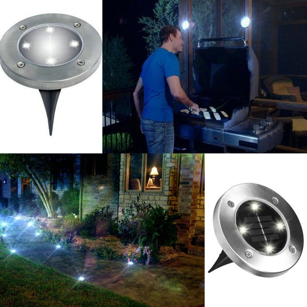 pretty nice 0559e 8cb31 2019 4 LED Solar Lights Outdoor Ground Lights, Water Resistant Path Garden  Landscape Lighting For Yard Driveway Lawn Pathway From Sunway518, $58.4 |  ...