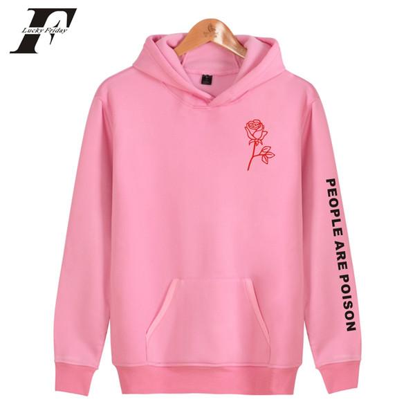Pessoas são veneno oversize moletom com capuz camisola mulheres / homens harajuku moletons rosa impresso agasalho moletom feminino