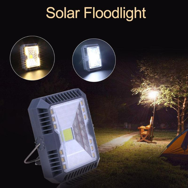 top popular Edison2011 Solar Floodlight Spotlight Solar Camping Light 3 Modes USB Rechargeable COB Working Lamp Outdoor Camping Emergency Handheld Lamp 2019