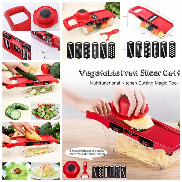 Food Shredder Vegetable fruit Slicer Manual Cutter with Stainless Steel Blade Potato Peeler Carrot Cheese Grater Dicer Kitchen Tool FFA1267