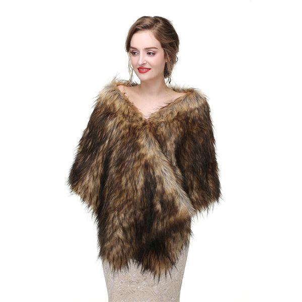 CMS19 Faux Fur Bolero Jacket, Bridal faux fur wrap, Faux fur stole shrugs,Bridal cape and shawls