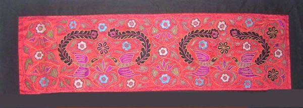 Arte textil vintage asiático antiguo bordado de apliques 100% bordado étnico # 193