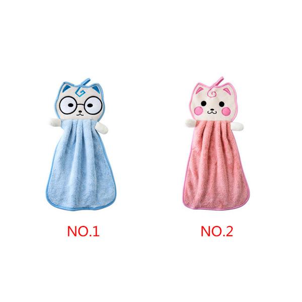 Baby Hanging Hand Towel Cartoon Handkerchief Kitchen Newborn Washcloths Bathroom Cat Car Cleaning Cloth Dish Wash Towel