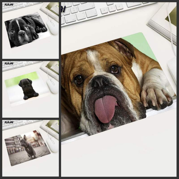 KULIAI Gift Mat Funny Puppy Custom Mouse Pad Computer Laptop Anime MousePads Round Mouse Mats 18x22cm 20x25cm 25x29cm Thick 2mm