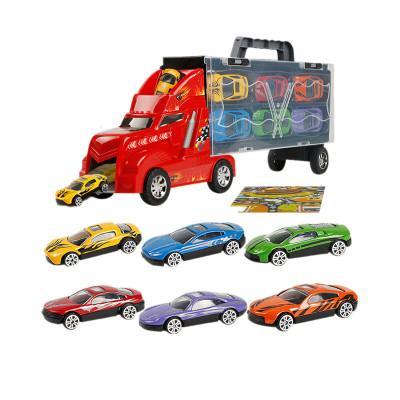 Transport Carrier Truck Set avec 12 voitures colorées Mini Mental Die Cast Innovante Carte de jeu de course - Voiture Transporter Toy pour enfants