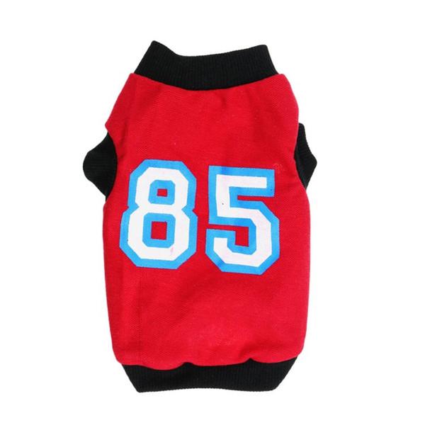 Pet Dog Clothes Soft Dogs Vest Fashion Sports Cat Shirt Pet Clothing Spring/Summer Cotton Sweatshirt Coats For Small Midium Pets