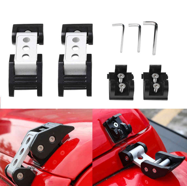 Jeep Wrangler Accessories 2017 >> For Jeep Wrangler Accessories Black Hood Lock Assembly Locking Hood Catch Latches For 2007 2017 Jeep Wrangler Jk Unlimited Wholesale Auto Parts
