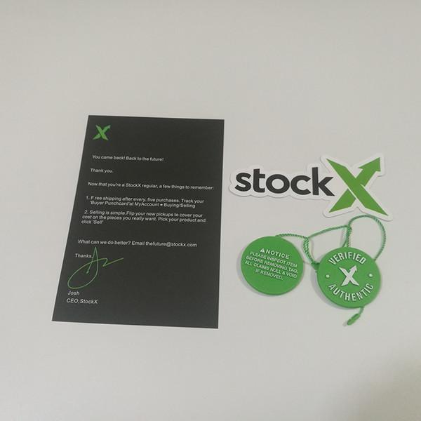 Toptan OG Doğrulanmış Otantik Stok X Etiket Kart Sticker Plastik Etiket Ayakkabı Toka Kapalı Ayakkabı QR Kodu Aksesuarları Yeşil Daire Beyaz Siyah
