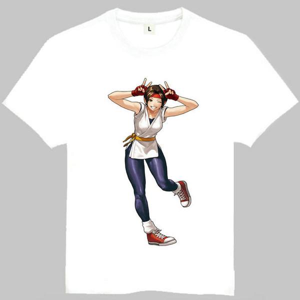 Yuri Sakazaki kız t gömlek savaşçıların kralı kısa kollu kıyafeti Oyuncu tees Eğlence baskı giyim Kaliteli pamuk Tshirt