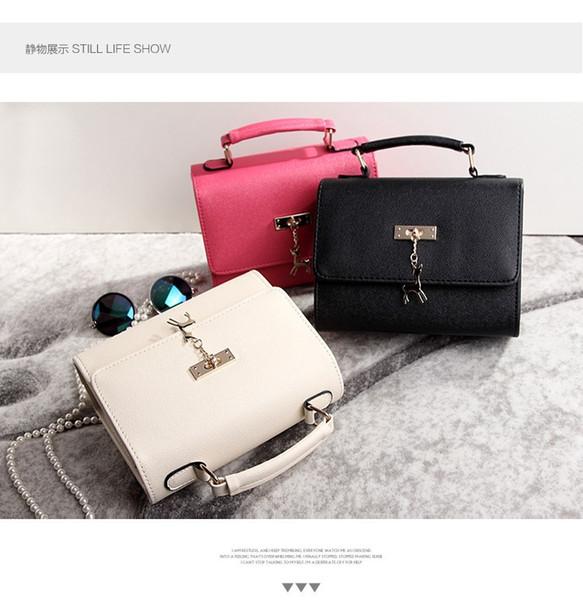 Wholesale-2015 Sommerfrauenhandtasche retro Art und Weiseflut 3 Farben einzelner Schulterbeutel diagonal bolsos carteras mujer beiläufige weibliche Tasche ET256