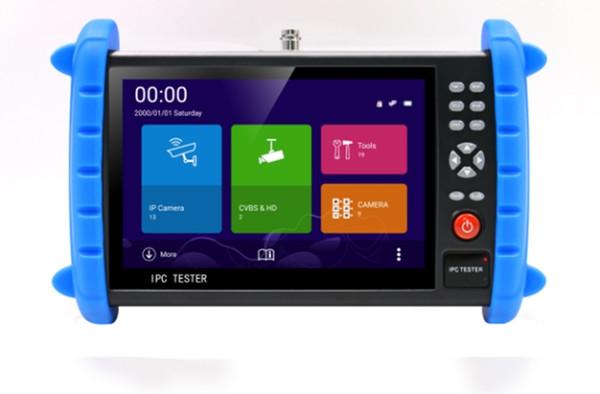 New 7 inch 5 In 1 H.265 4K H.264 IP 5MP TVI 4MP CVI 4MP AHD Analog CCTV Tester with HDMI input Rapid ONVIF WIFI UTP 5V 12V 24V POE Output