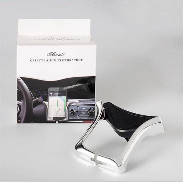 Supporto mobile per auto Supporto per U Supporto per presa d'aria Supporto regolabile per smartphone GPS da 4,0-6,0 pollici con confezione al dettaglio
