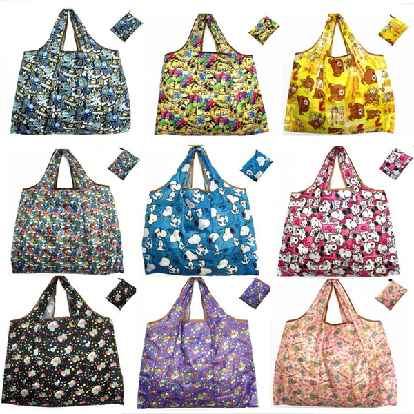 best selling Cartoon Animal Foldable Shopping Bags Large Capacity Grocery Reusable Storage Bag Eco Friendly Handbags Tote Bags Travel Waterproof Bags new