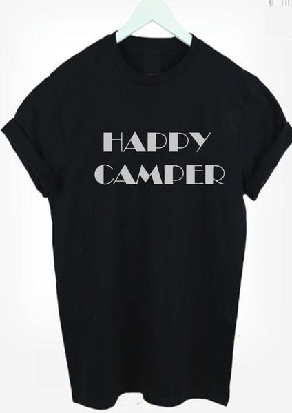 Счастливый CAMPER футболка топ фестиваль отдых на природе праздники футболка мужчины женщины дети