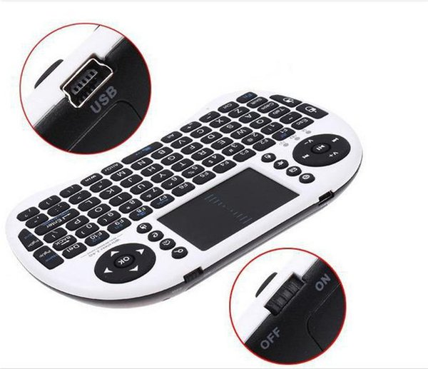 Original Mini i8 Wireless Keyboard 2.4G English Version Air Mouse Smart Touchpad Handheld For Android TV Laptop