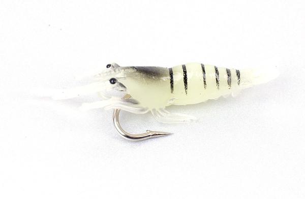 20 pcs /bag Soft Shrimp Fishing Lure Sharp Single Hooks Soft lure Realistic Grass Shrimp Artificial Lure pesca
