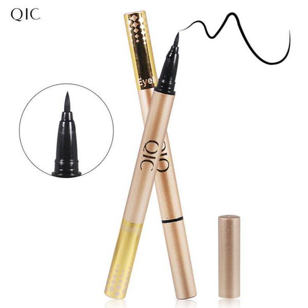 Nuevo negro lápiz delineador de ojos a prueba de agua líquida de larga duración delineador de ojos liso pluma herramienta de maquillaje de belleza ojo marcador cosméticos