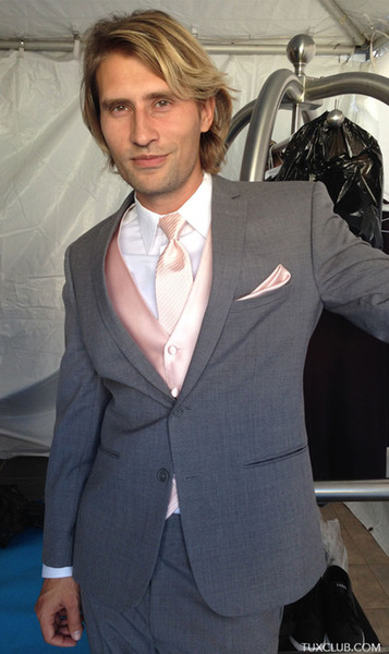 2018 Latest Coat Pant Designs light grey men suit classic suit for business wedding for groomsmen summer jacket 3 pieces