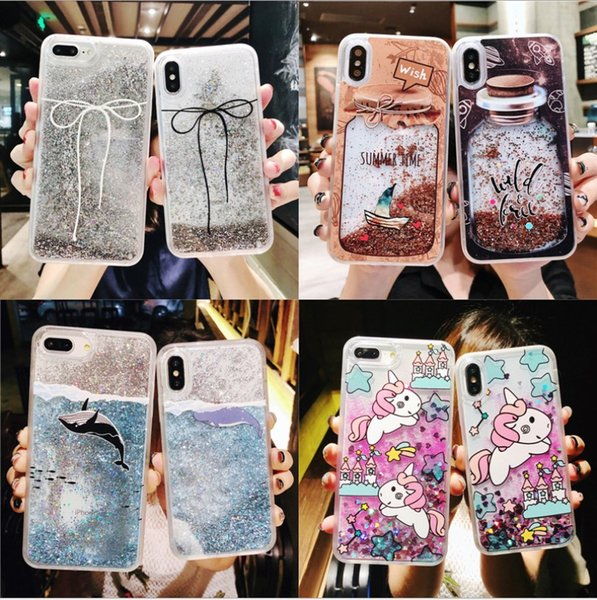 Fashion Cell Phone Cases bling bling Silica gel Phone Covers waterproof case for iphone XS Max for iPhoneXs for iphone 6 7 8 plus