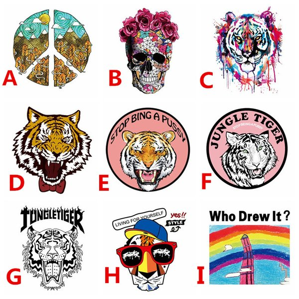 top popular Heat Transfer Vinyl Patch Custom Design Customize Sticker Iron On Transfer Applique Badge for DIY T-shirt Clothes Fabric Decoration Printing 2019