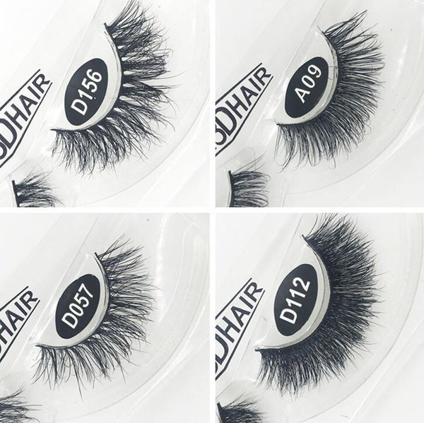 Manufacturers directly supply 3D mink hair false eyelashes dense row grafted Mascara silk single eyelash.